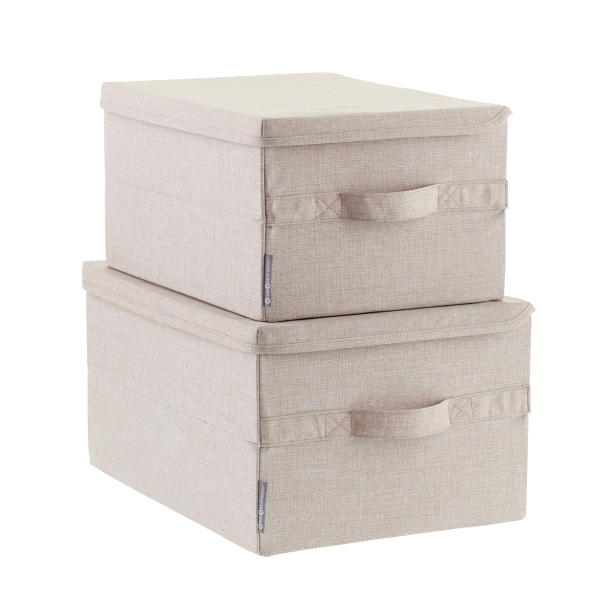 Bigso Flax Soft Storage Boxes with Handles ...  sc 1 st  The Container Store & Bigso Flax Soft Storage Boxes with Handles   The Container Store