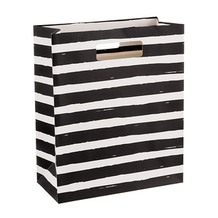 Painterly Black Stripes Gift Bag The Container Store