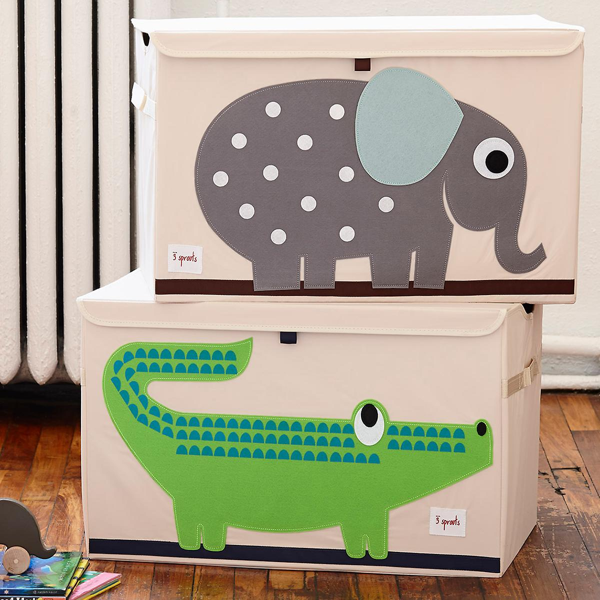 7efe4b820 3 Sprouts Elephant Toy Storage Box with Handles