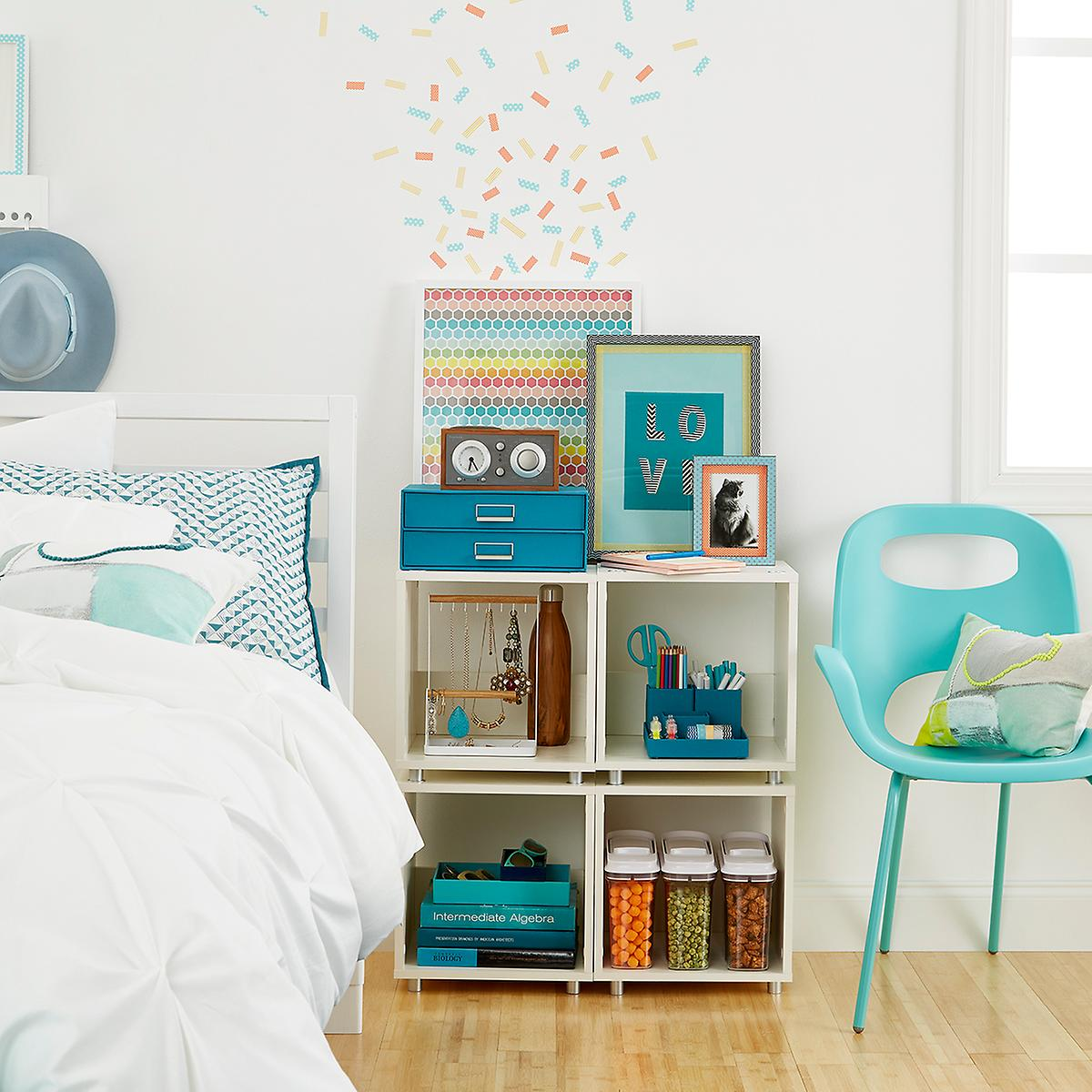 Small White Vario Stackable Cubby Shelf | The Container Store