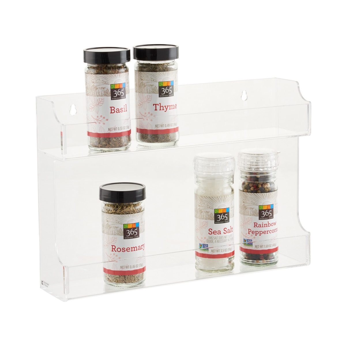 Image of: Double Acrylic Spice Rack The Container Store