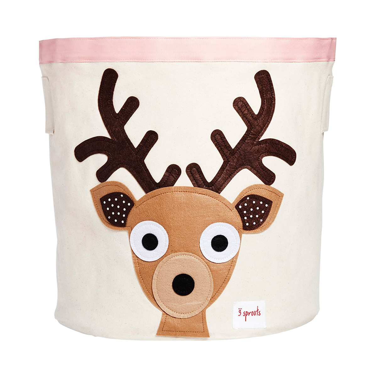 Charming 3 Sprouts Deer Canvas Toy Storage Bin