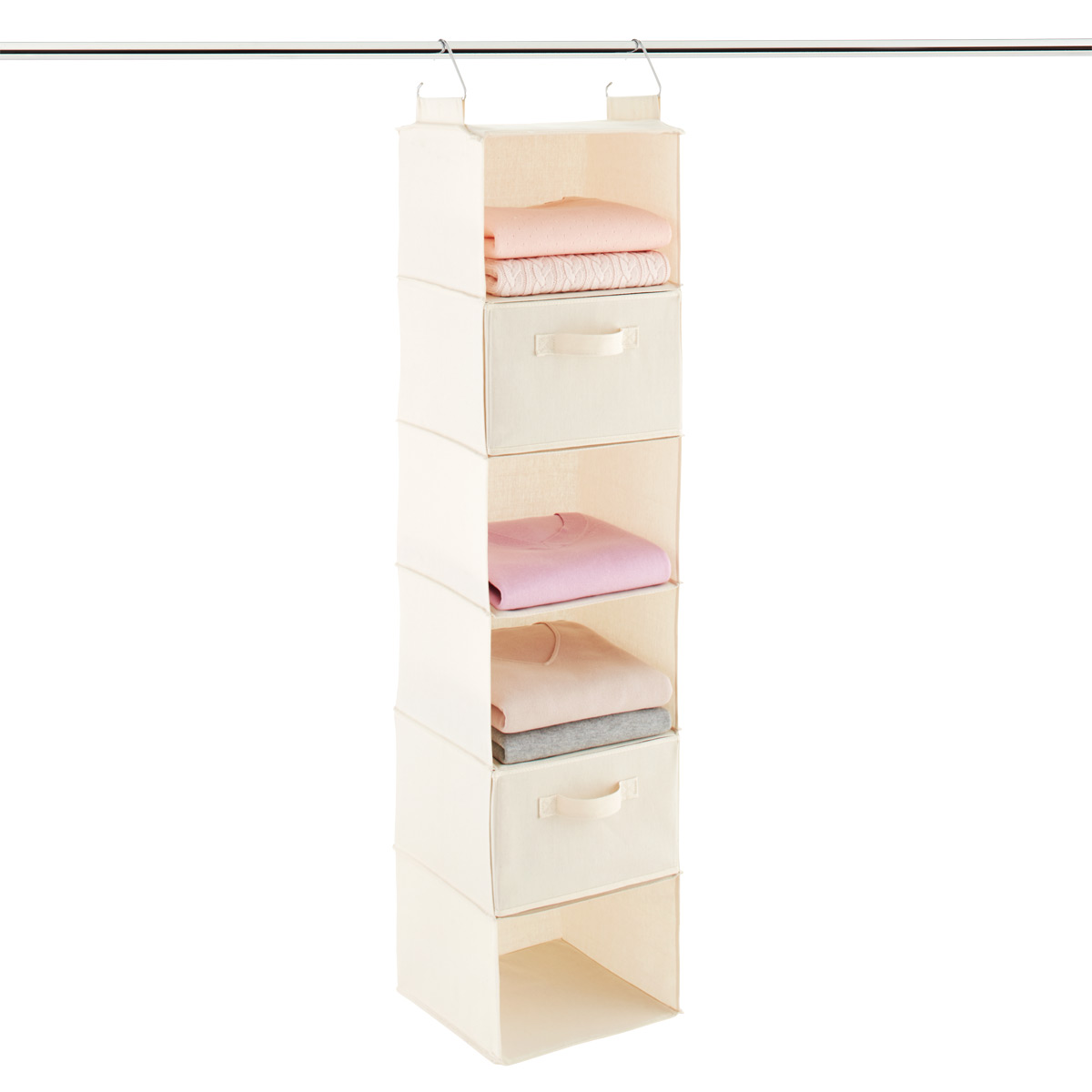 Exceptionnel 6 Compartment Natural Canvas Hanging Sweater Organizer