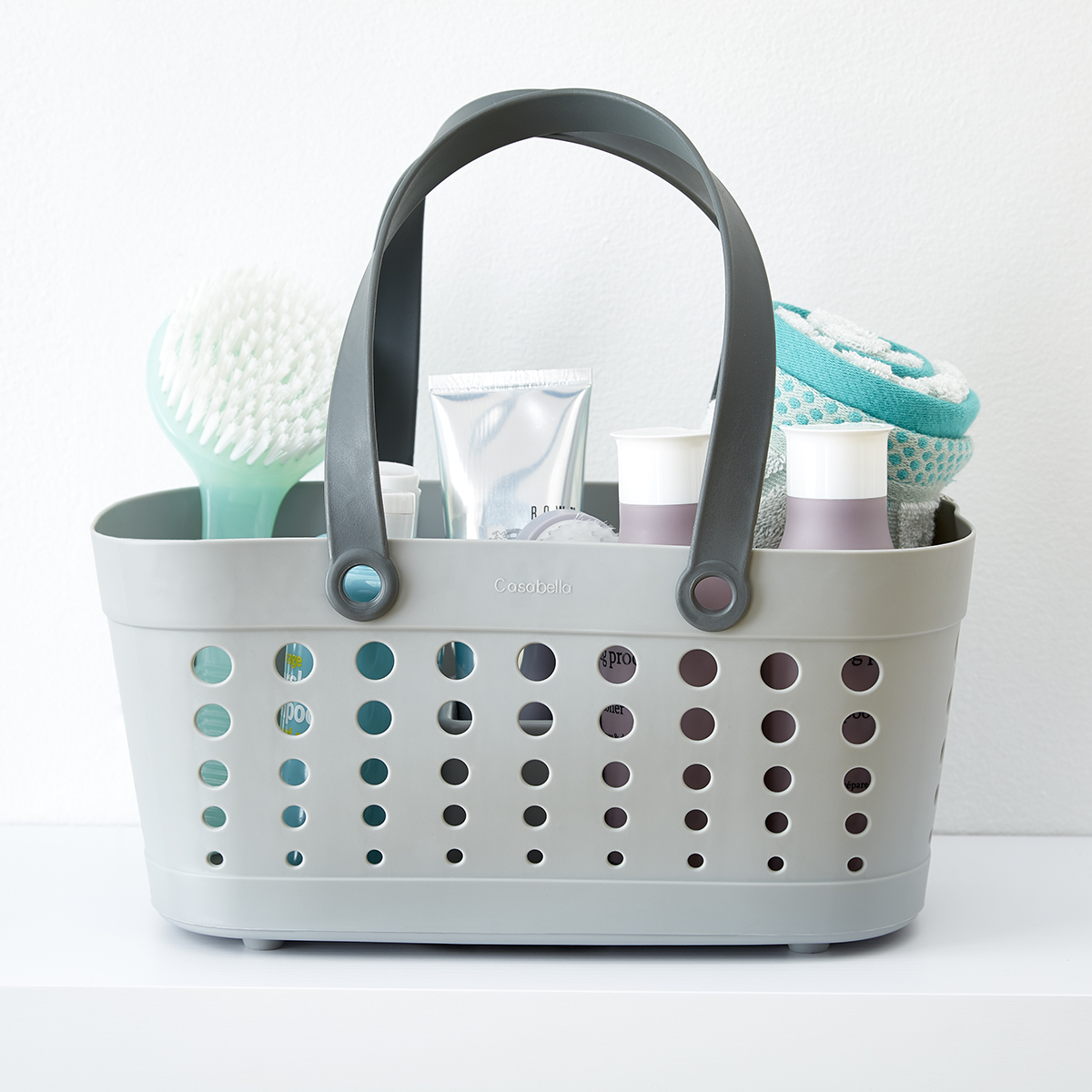 Shower Tote Grey Flexible Shower Tote By Casabella The Container Store