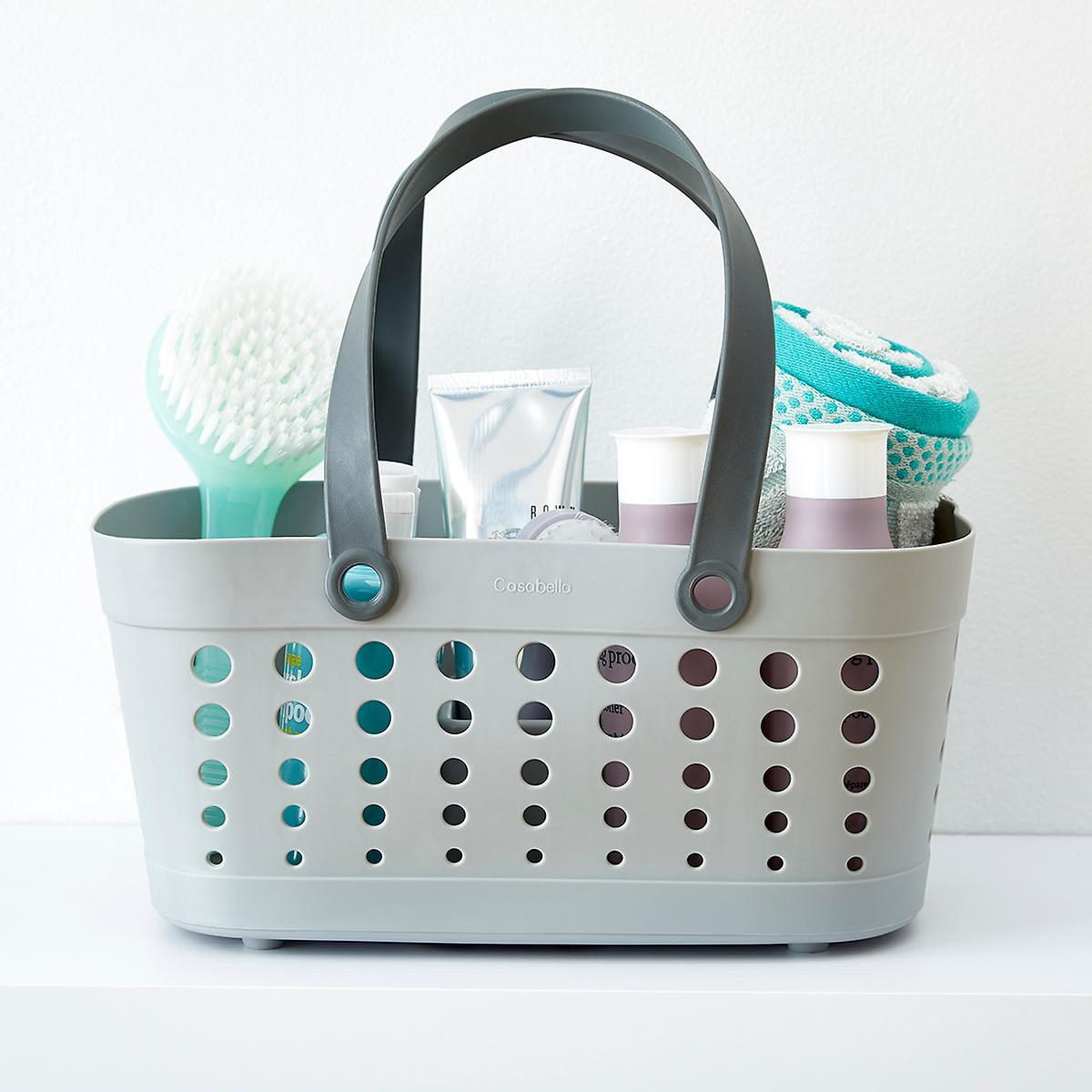 Shower Tote - Grey Flexible Shower Tote by Casabella | The Container ...
