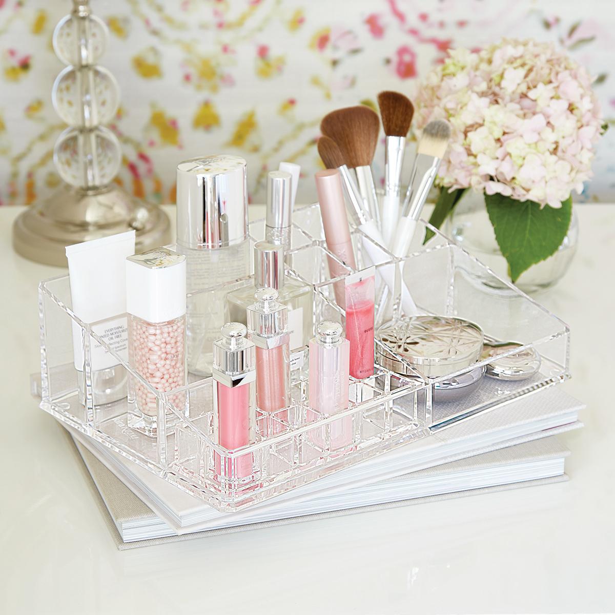 Acrylic Makeup Organizer Large Acrylic Makeup Organizer The