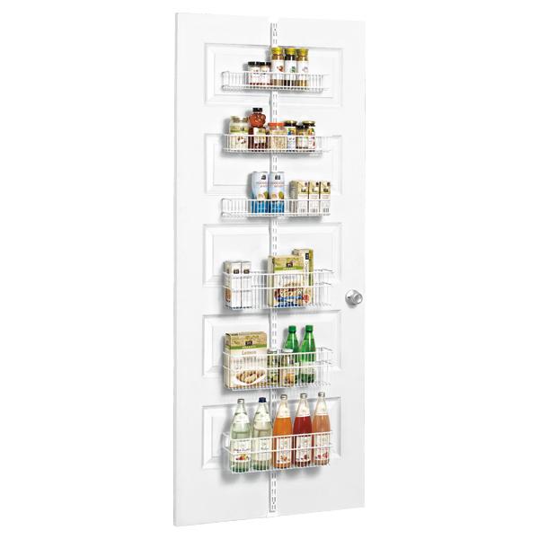 White Elfa Utility Pantry Door U0026 Wall Rack