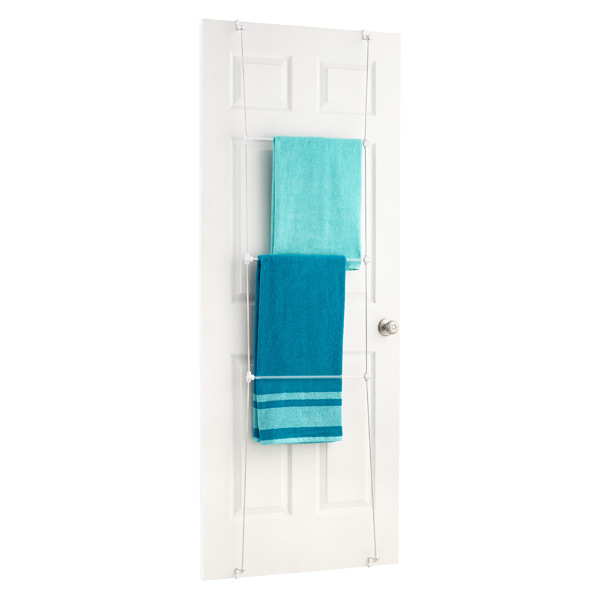 Over The Door Towel Rack Bathroom: Towel Rack - Bungee Overdoor Towel Rack By Umbra