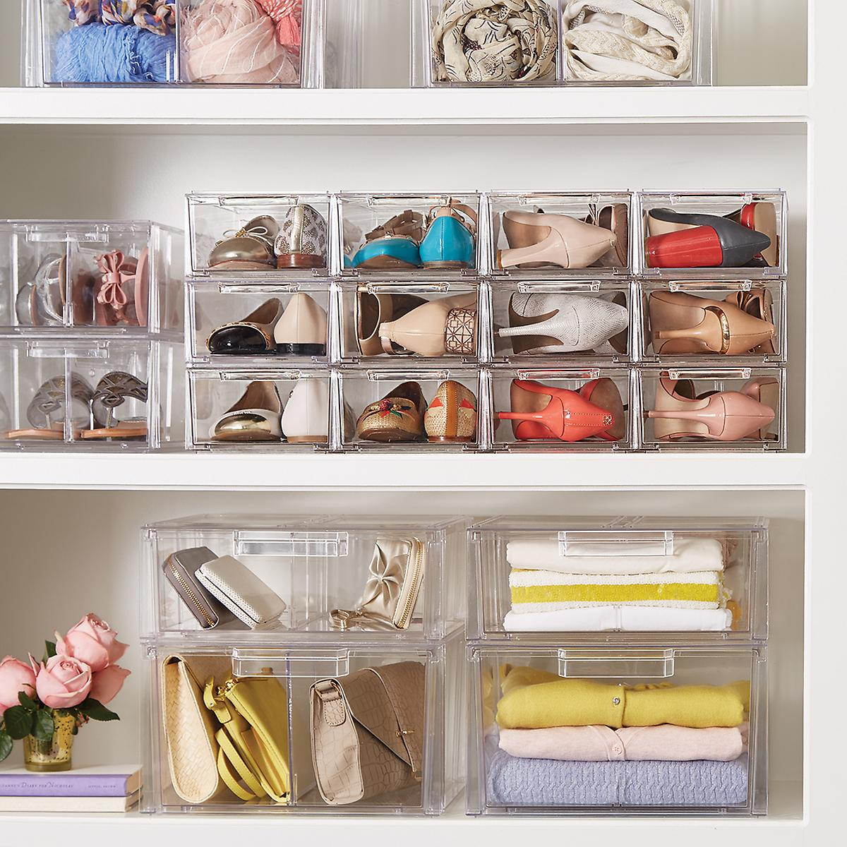 Clear Stackable Shirt Amp Accessory Drawer The Container Store