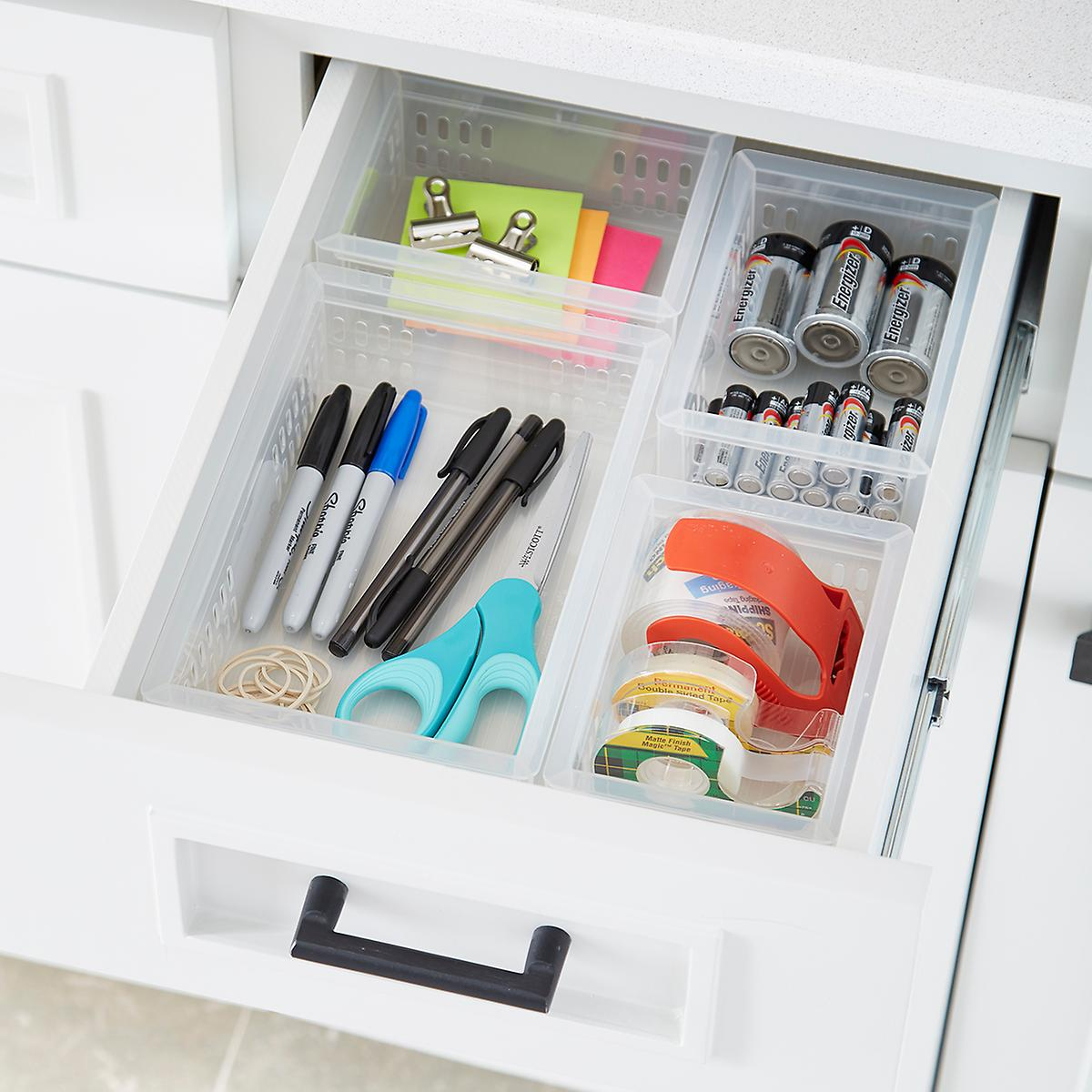 Stackable Organizers Junk Drawer Starter Kit The Container Store