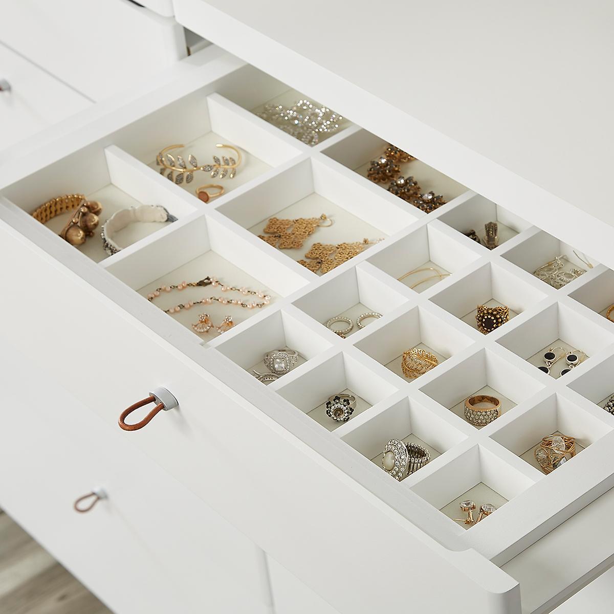 Walnut Elfa Decor Accessory Tray Drawer Frame Front