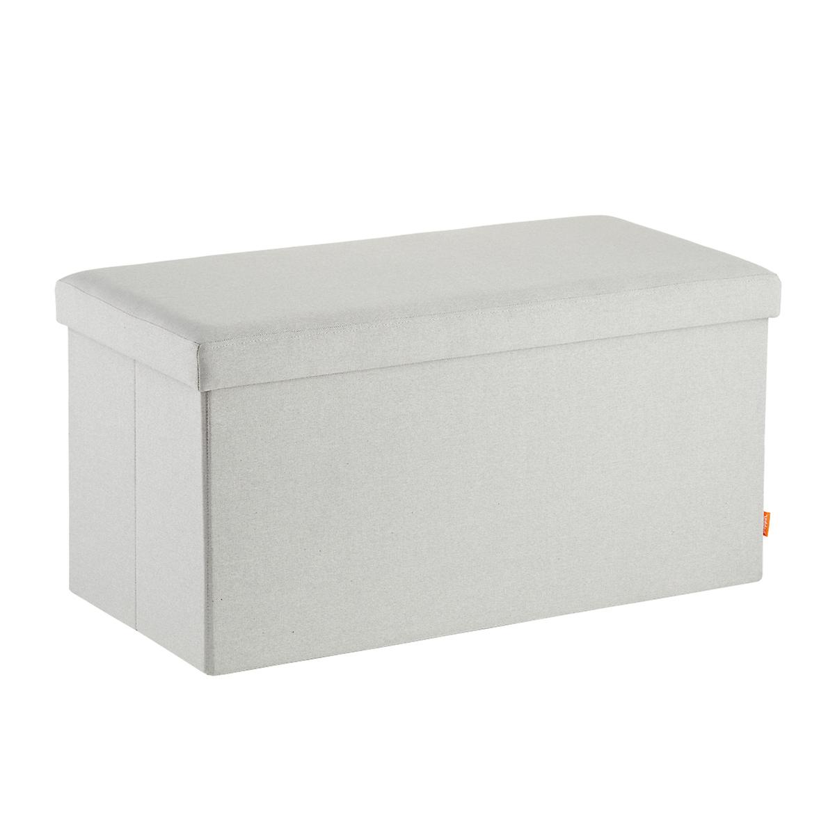 Poppin Light Grey Box Bench The Container Store