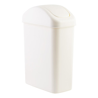 72 Gal White Swing Lid Trash Can The Container Store