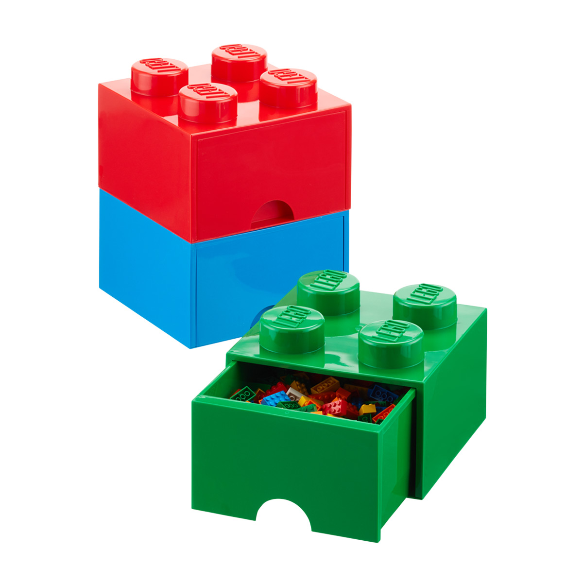 Superb Blue Large Lego Storage Drawer