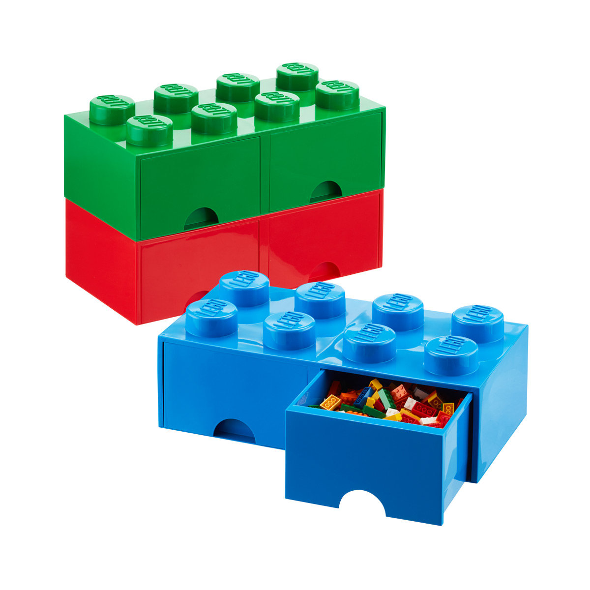 Blue X Large Lego Storage Drawer