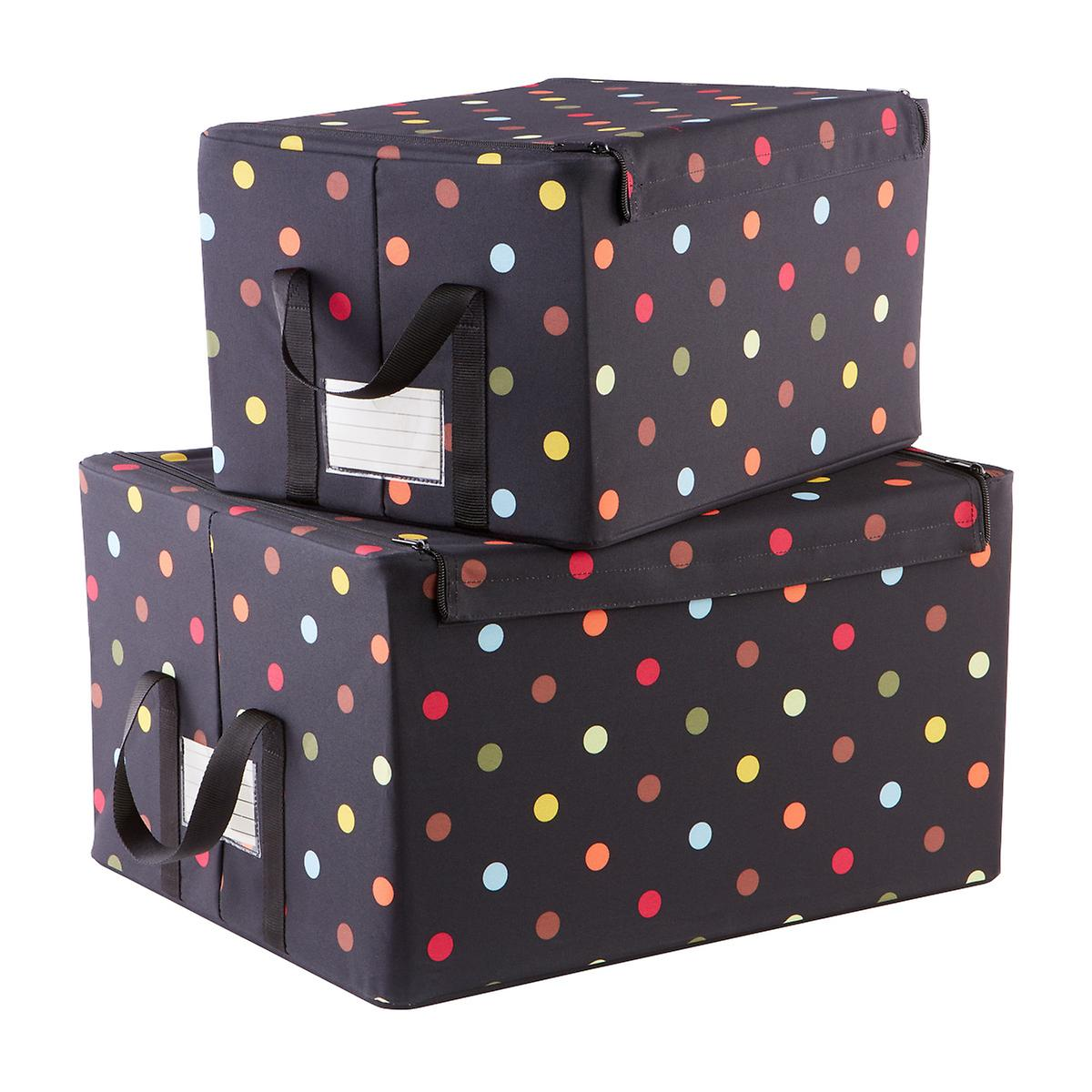 Reisenthel Multi Dot Fabric Storage Bo With Handles