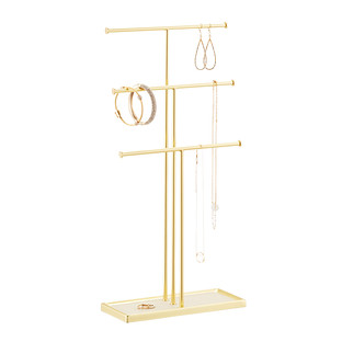 Umbra Gold Tribeca Necklace Stand The Container Store