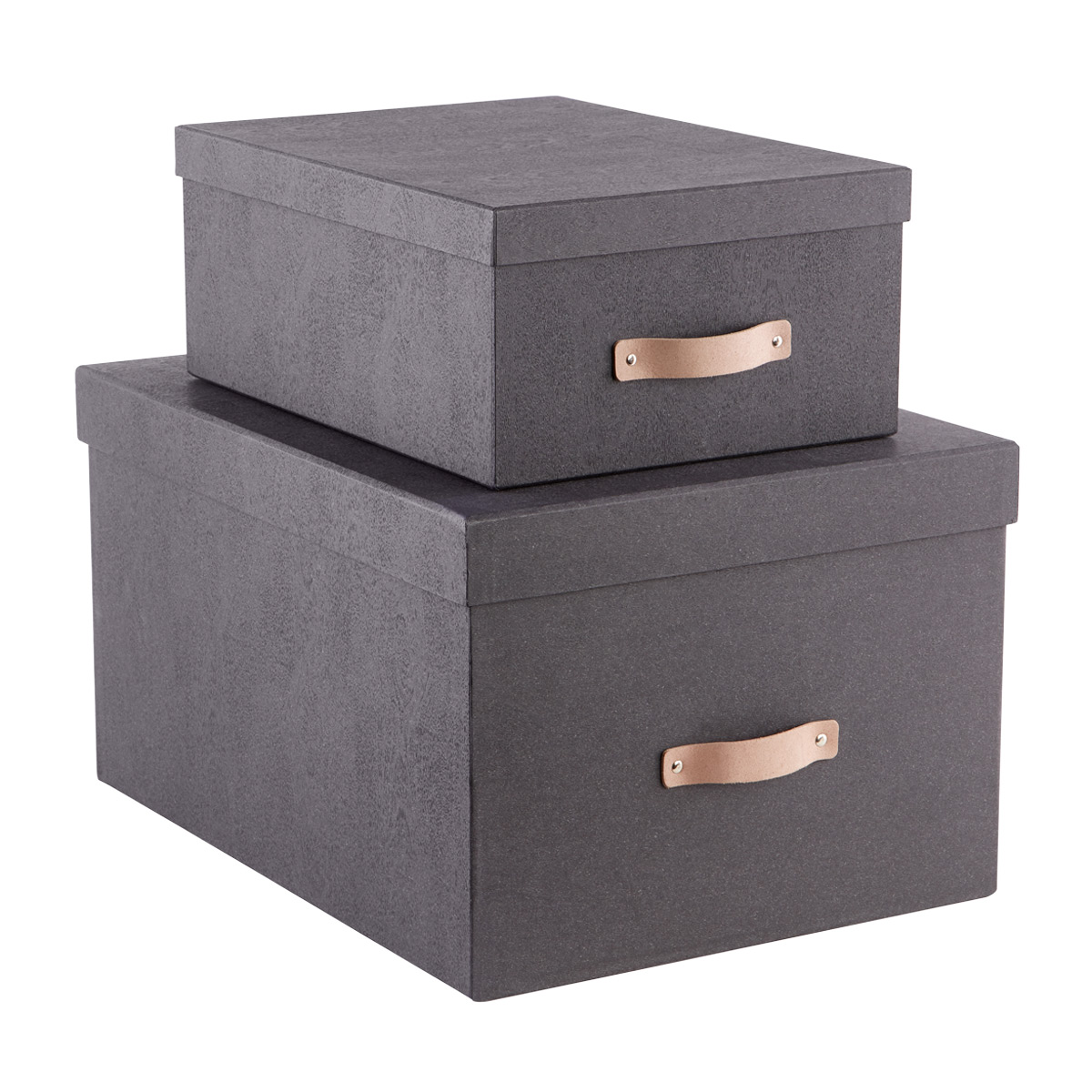 Charmant Bigso Black Woodgrain Storage Boxes ...