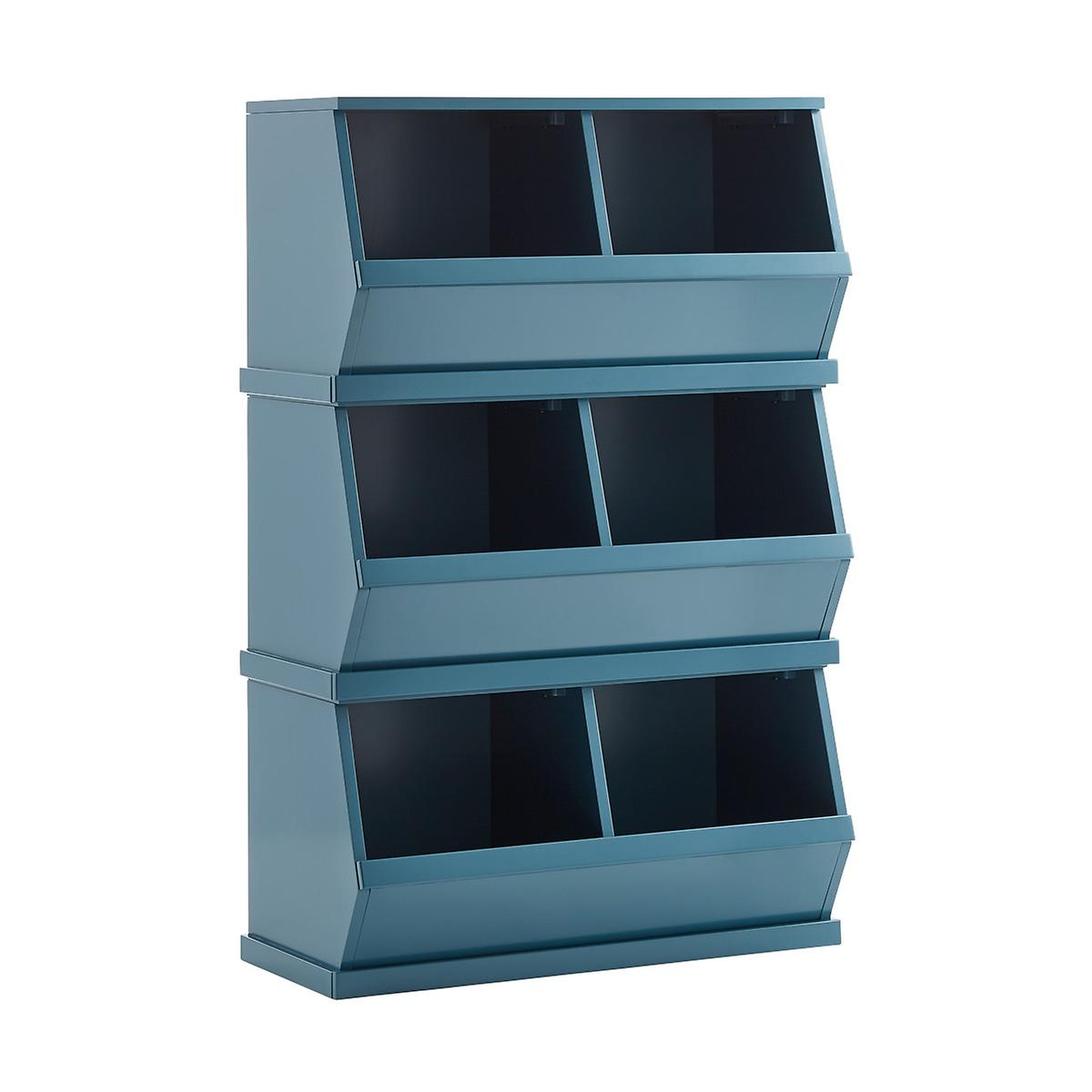 Blue Nantucket Stackable Storage Bin | The Container Store