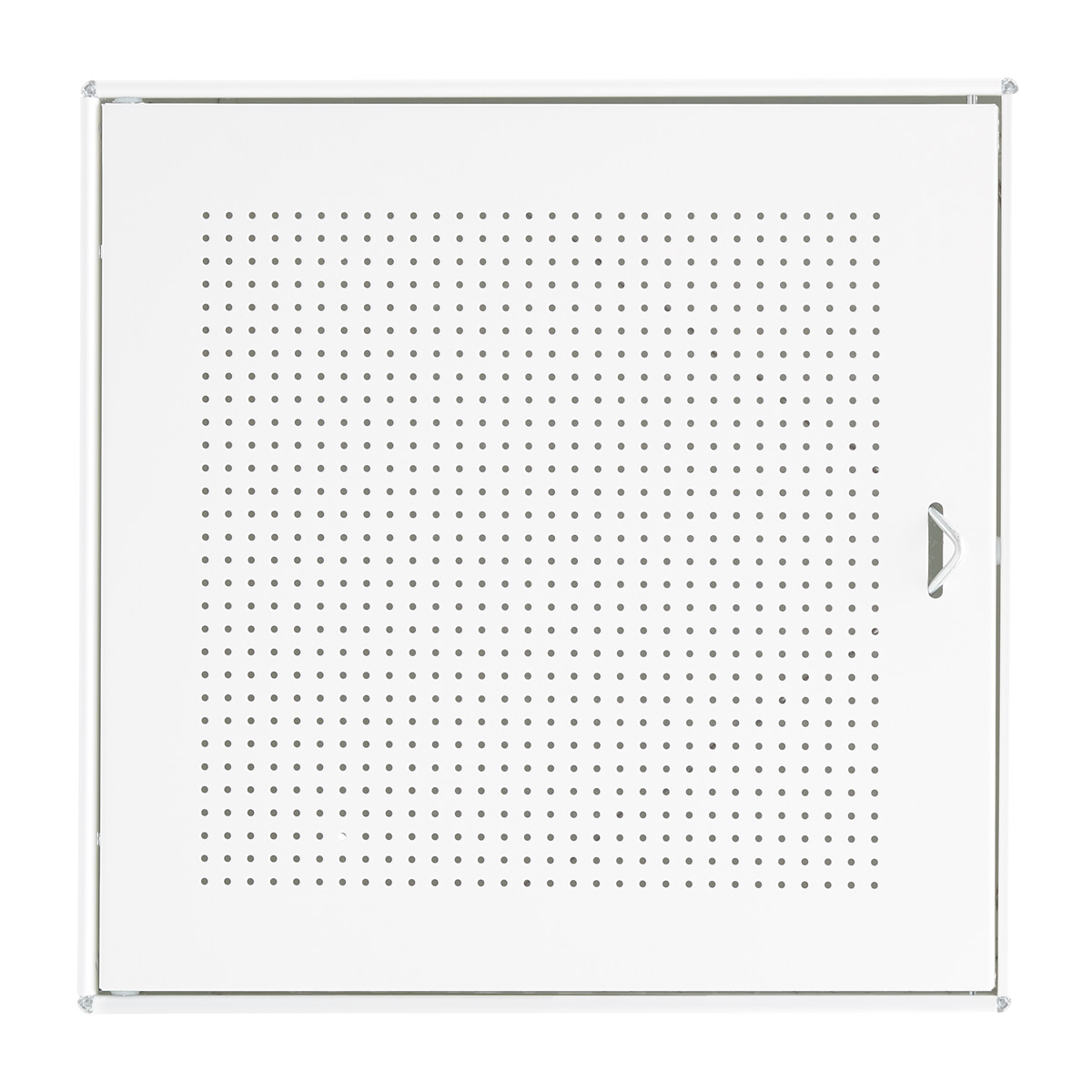 Charmant White Enameled QBO Perforated Steel Cube Door
