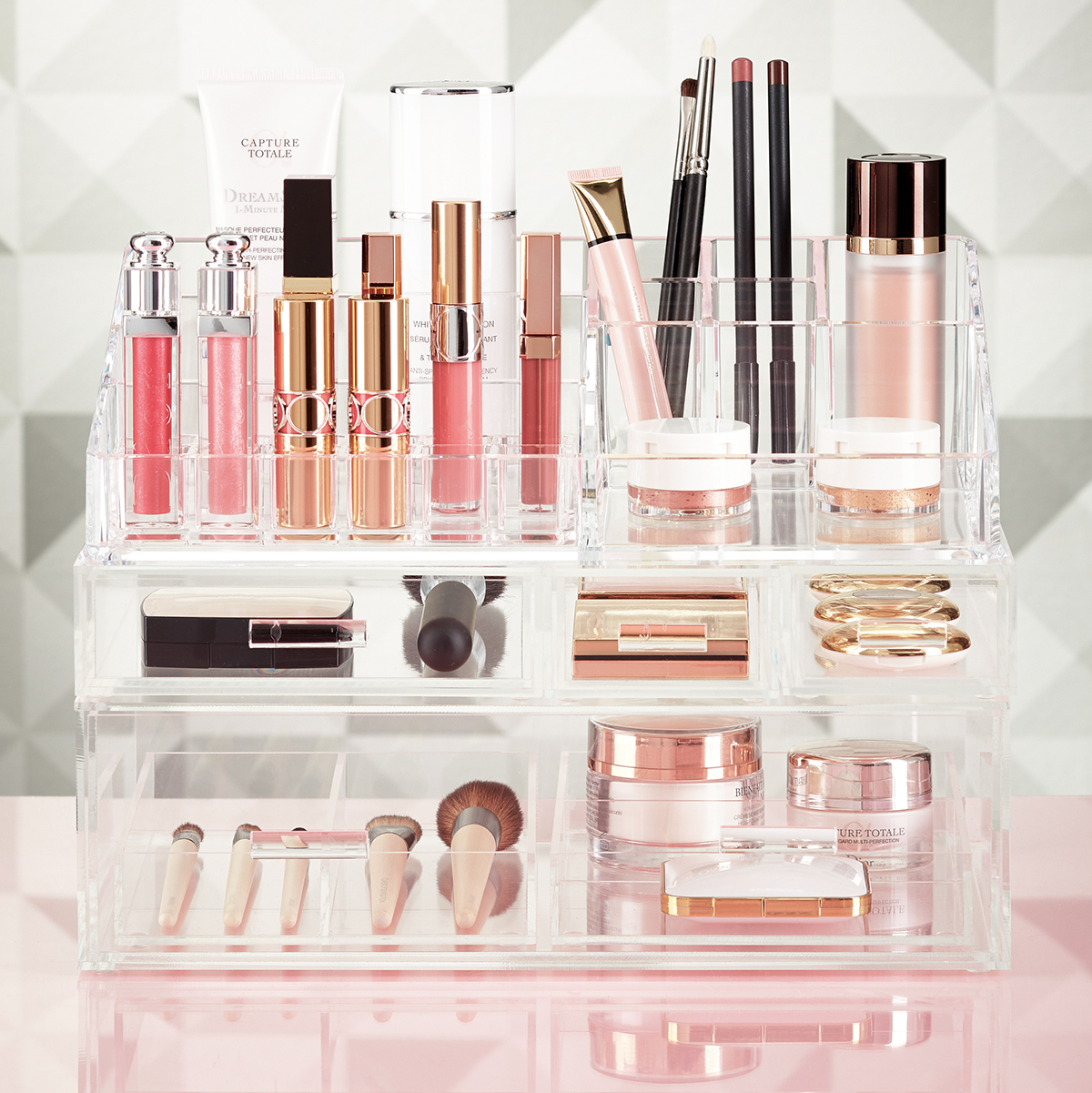 Charmant Luxe Acrylic Makeup Storage Starter Kit
