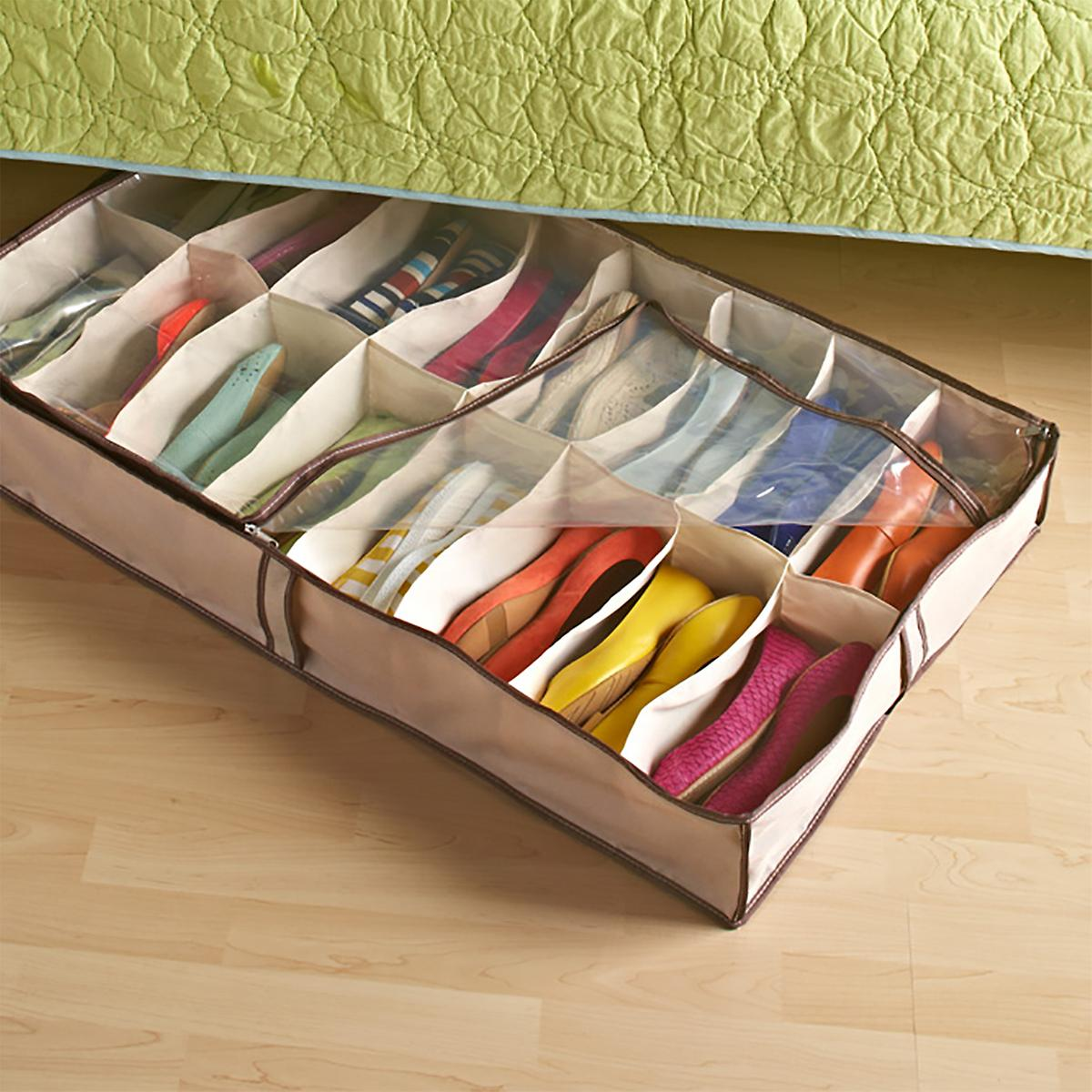 under bed shoe storage container store