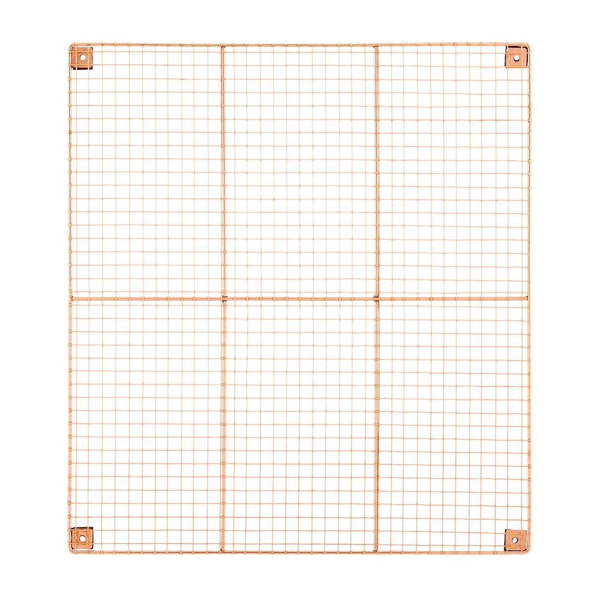 Rose Gold Wire Wall Grid & Components | The Container Store