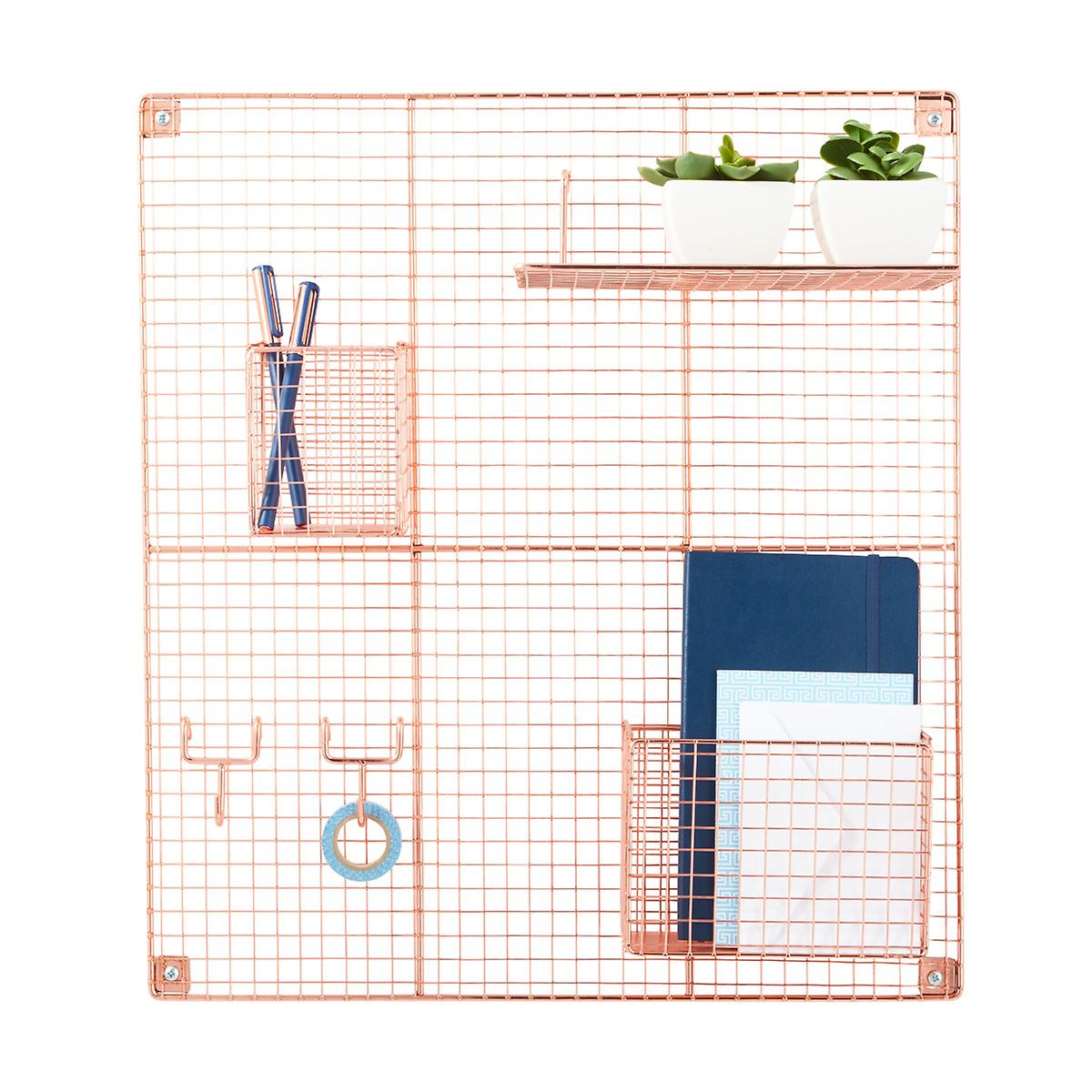Copper Wire Wall Grid & Components | The Container Store