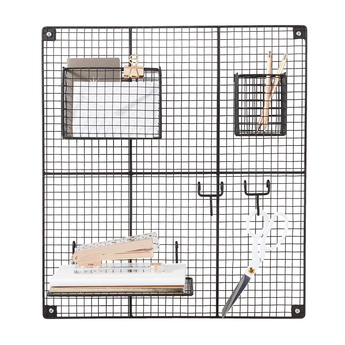 Wire Grid | Black Wire Wall Grid Components The Container Store