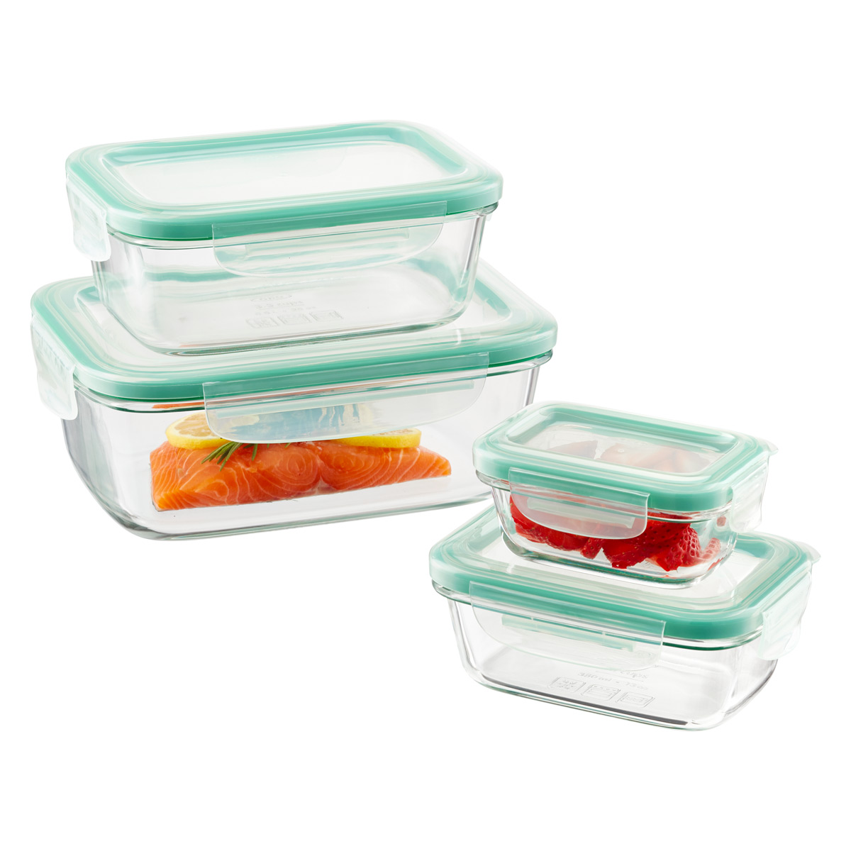 Glass Storage Containers With Lids Clear Glass Food