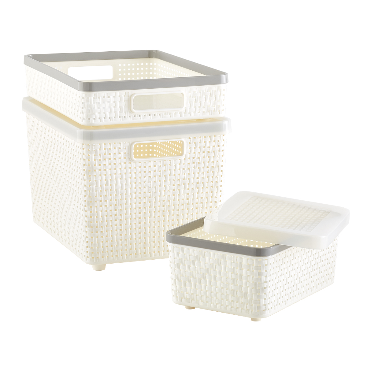 Ivory Cottage Woven Storage Bins