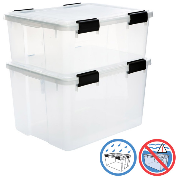 Clear Weathertight Totes