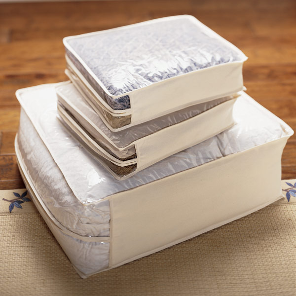 Natural Cotton/PEVA Storage Bags ...