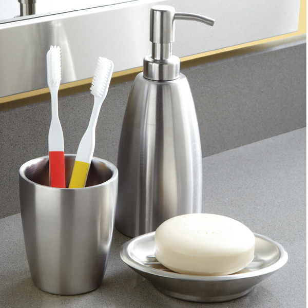 Interdesign Forma Stainless Steel Countertop Bathroom Set The
