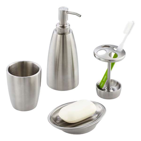 Interdesign Forma Stainless Steel Countertop Bathroom Set The Container