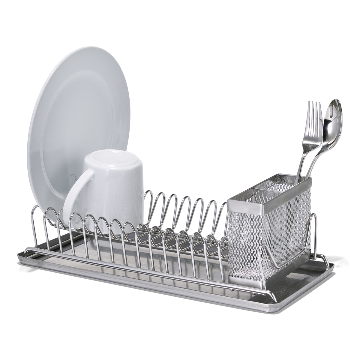 Polder Stainless Steel Compact Dish Rack  sc 1 st  The Container Store & Polder Stainless Steel Compact Dish Rack | The Container Store