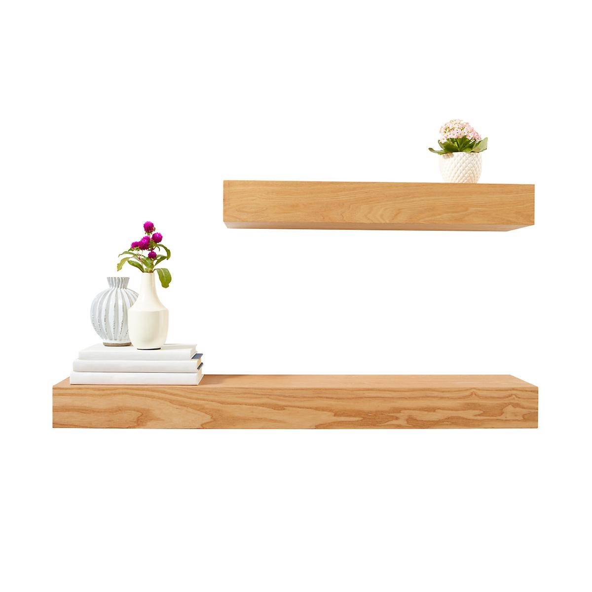 Floting Shelves ash floating shelves | the container store