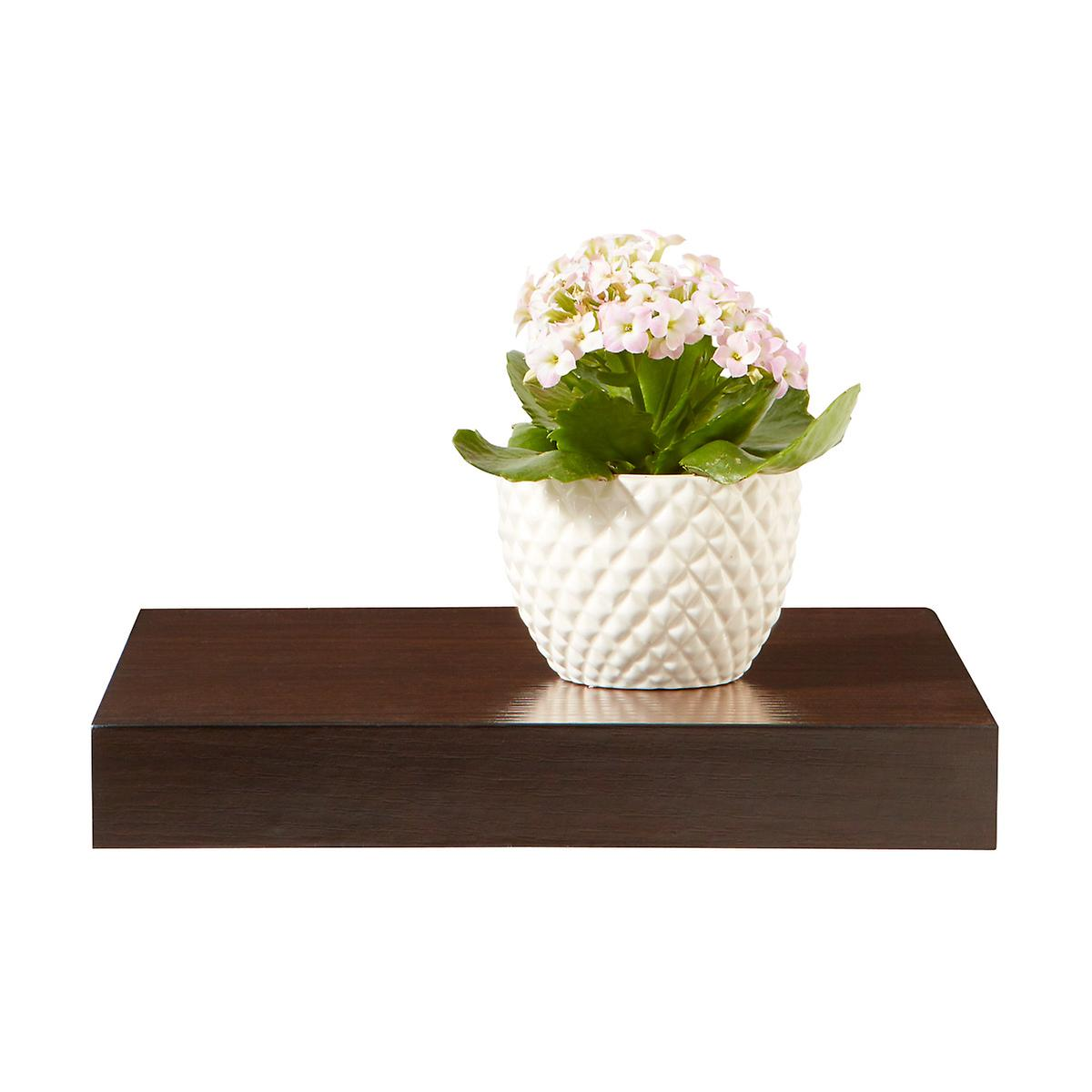 Walnut Floating Display Shelf | The Container Store