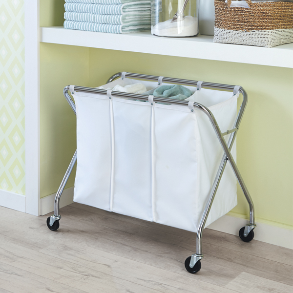 heavyduty 3bin laundry sorter with wheels