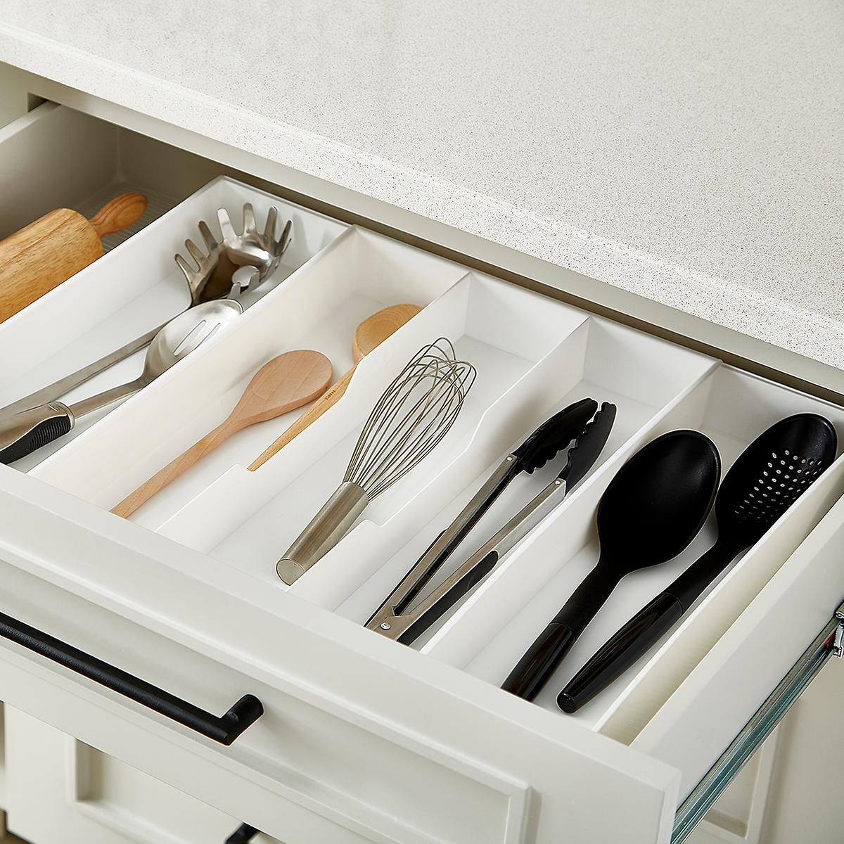 kitchen storage trays expand a drawer utensil trays the container 3192