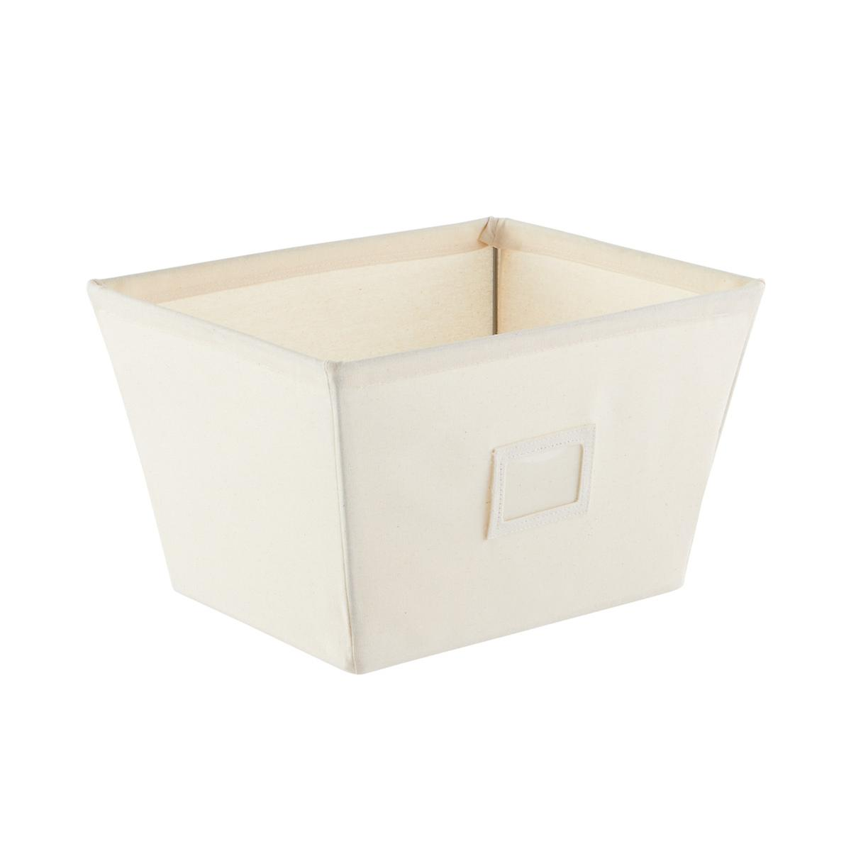 fabric storage bins natural open canvas storage bins with labels