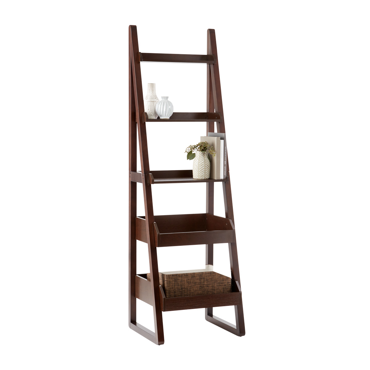 Attirant Walnut Encore Narrow Bookshelf