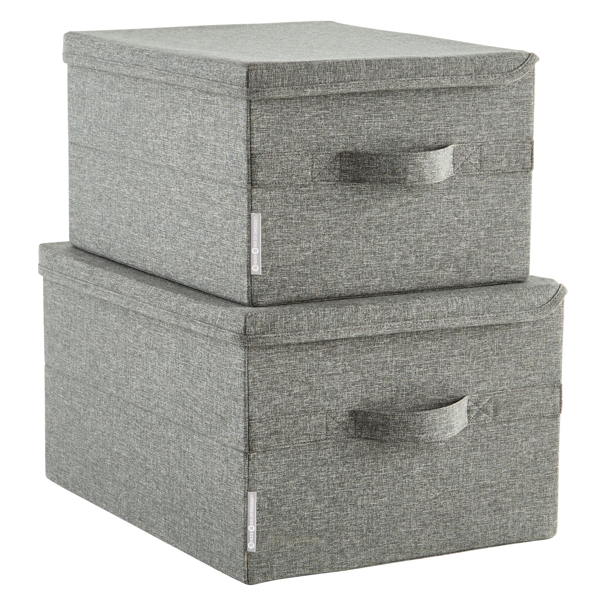Merveilleux Bigso Grey Soft Storage Boxes With Handles