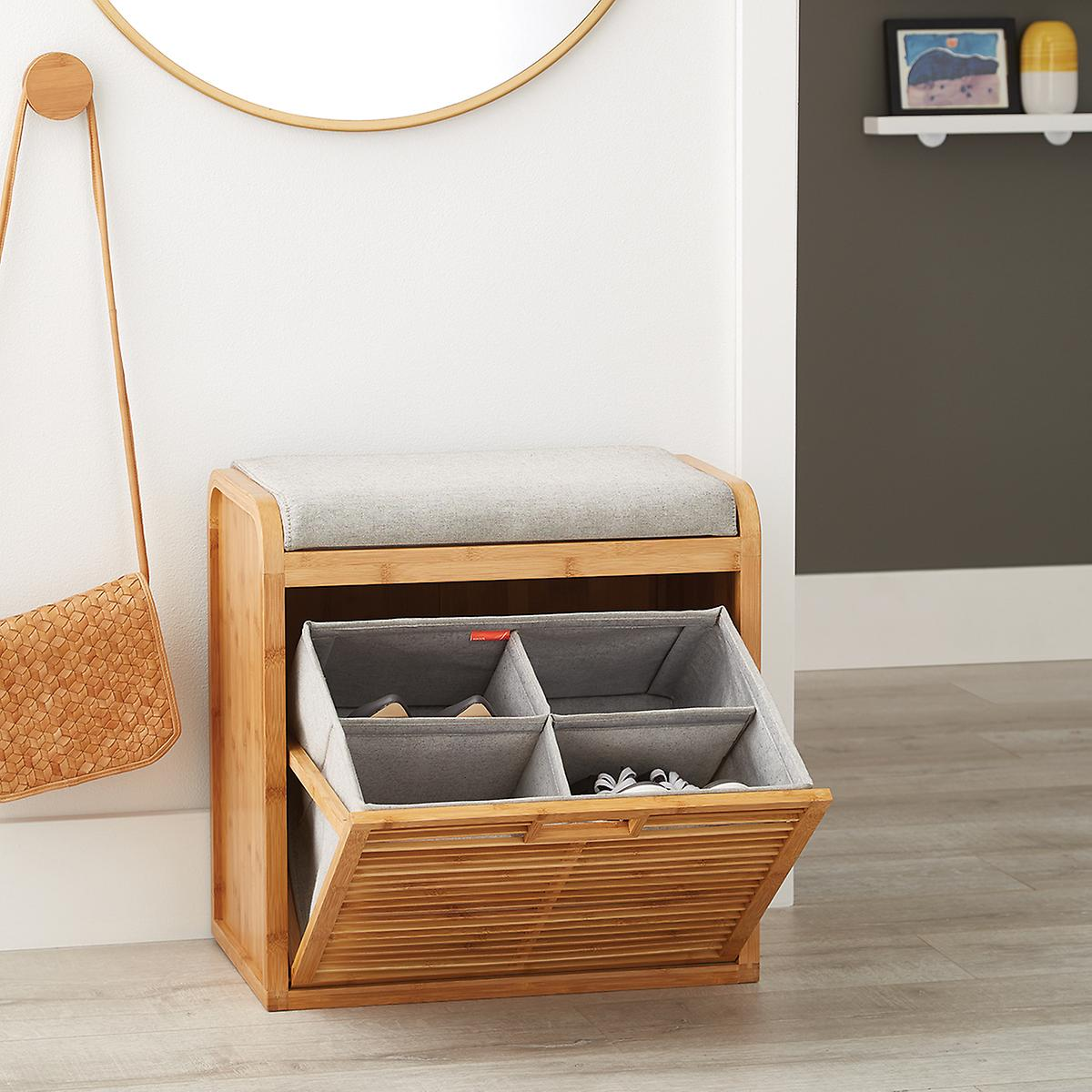Image result for lotus bamboo storage bench