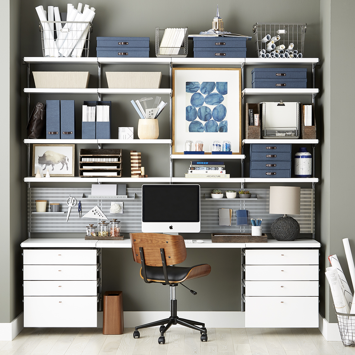 Picture of: White Elfa Decor Drawer Frames Fronts The Container Store