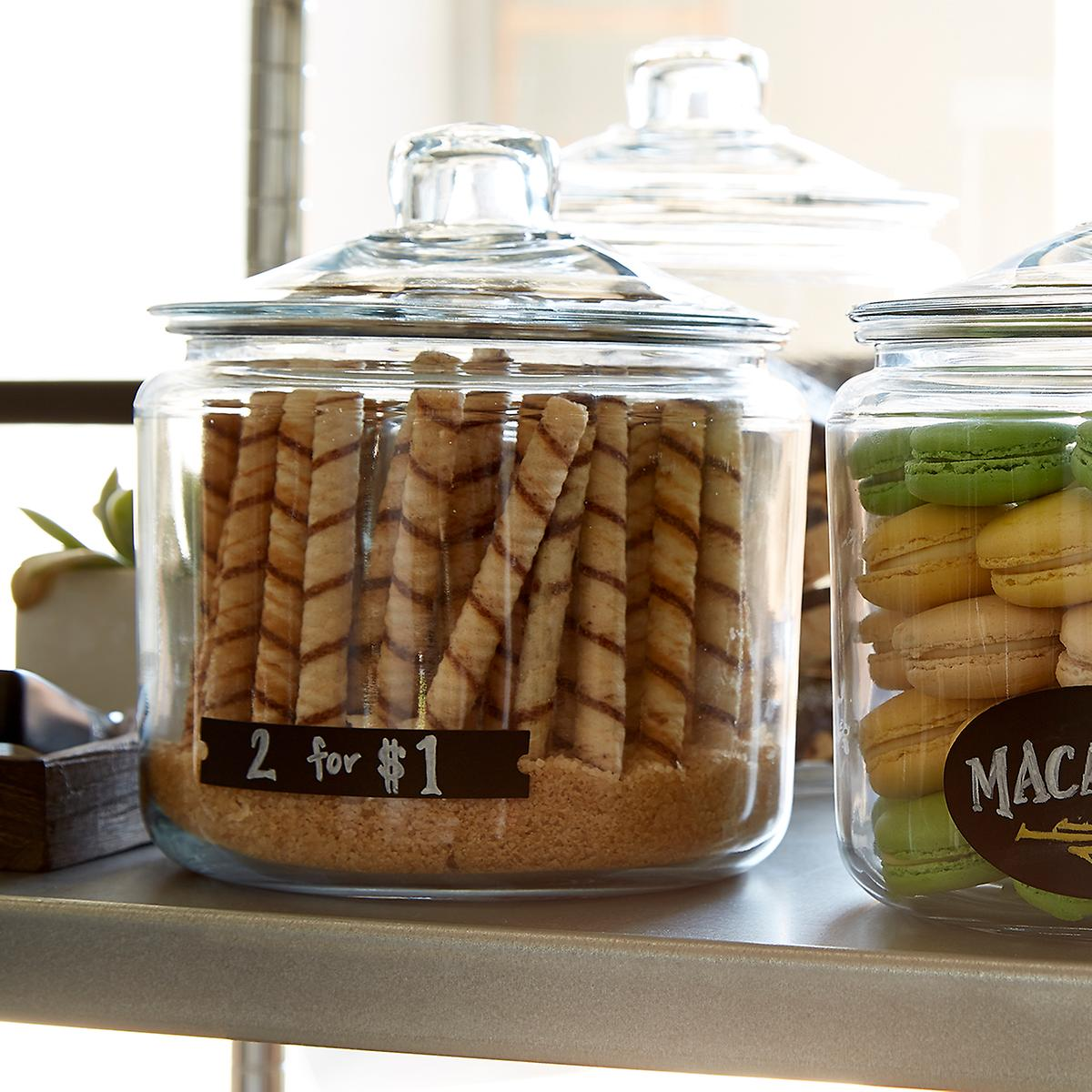 Anchor Hocking Glass Canisters with Glass Lids