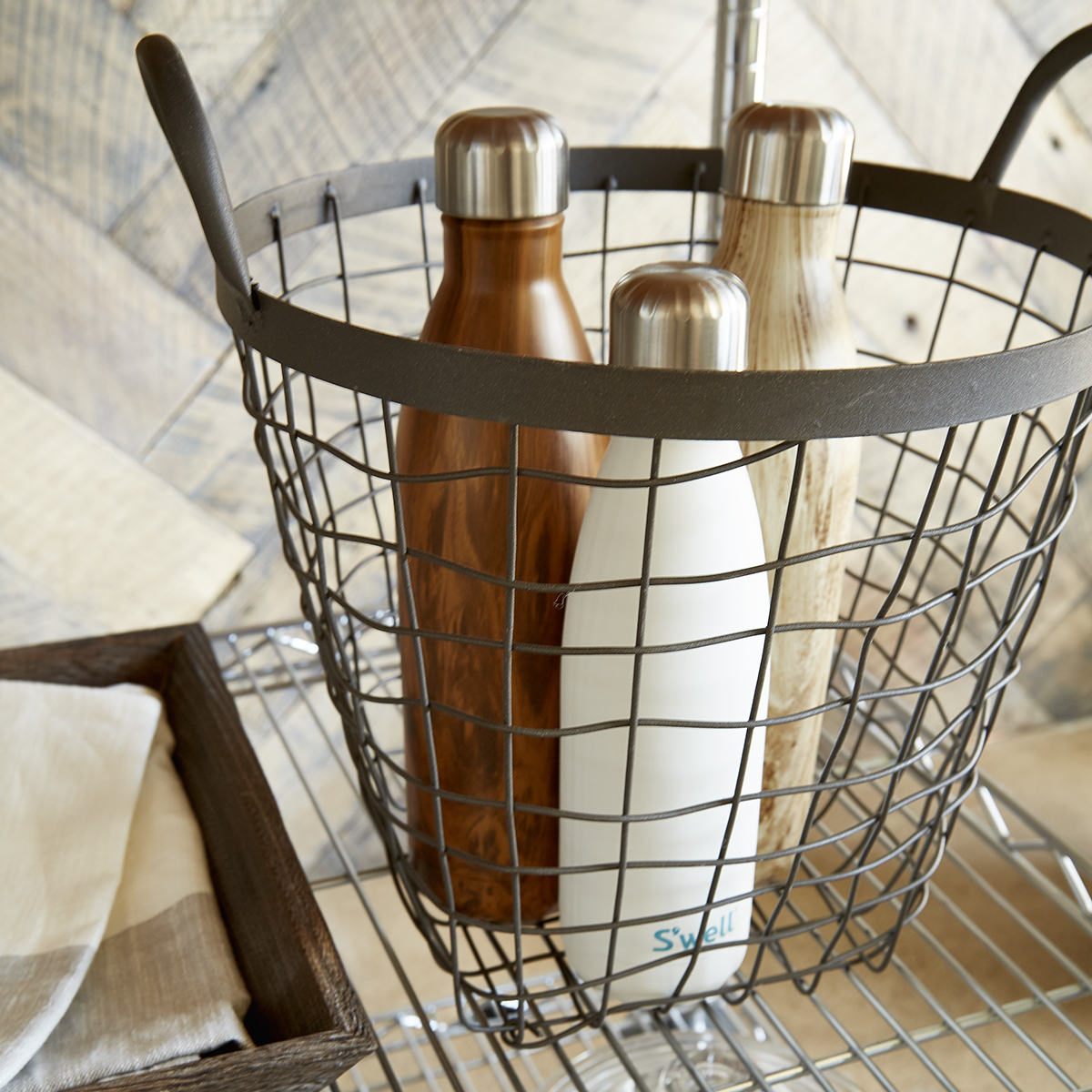 Delicieux Rustic Decorative Storage Baskets With Handles