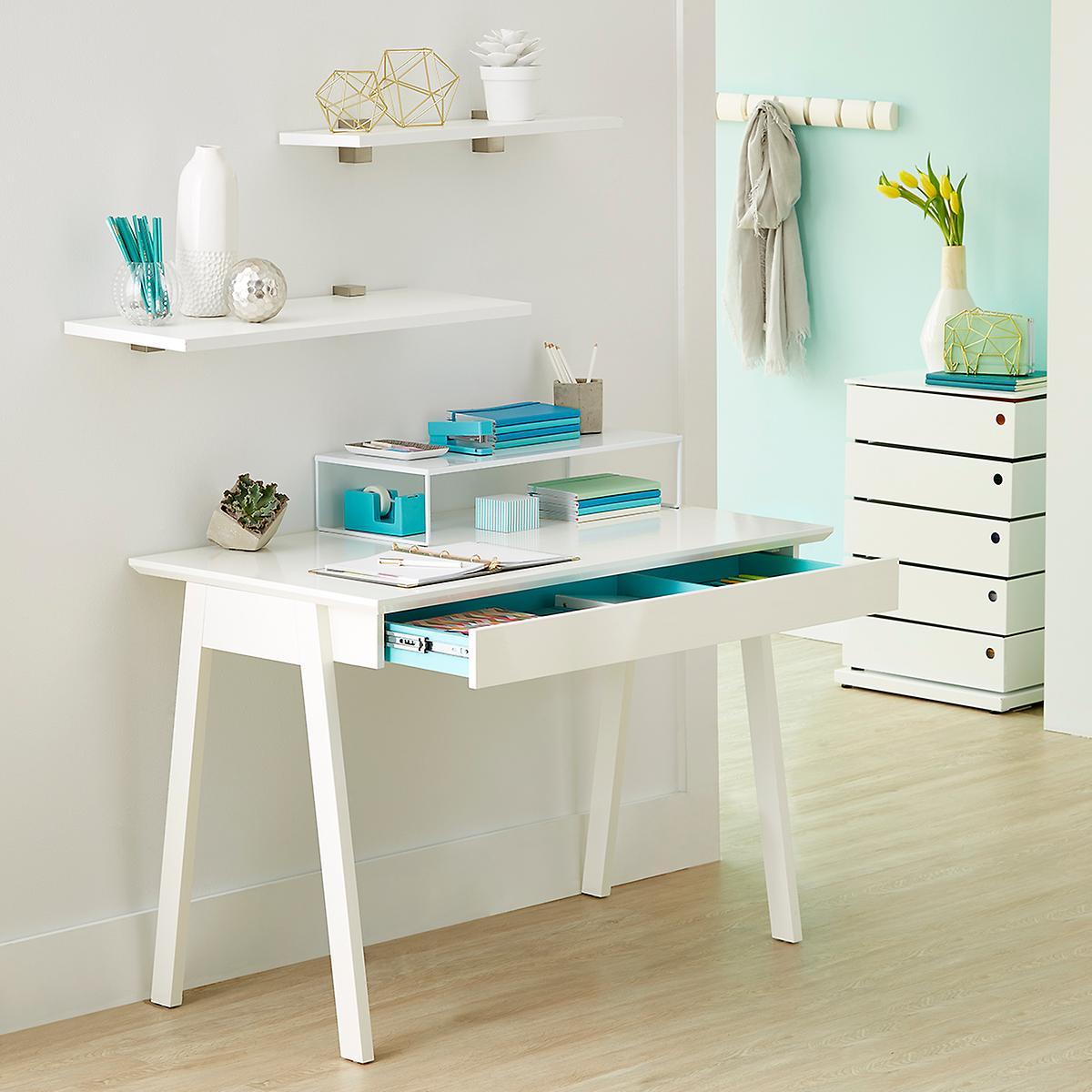 White Desk - White Caché Desk | The Container Store
