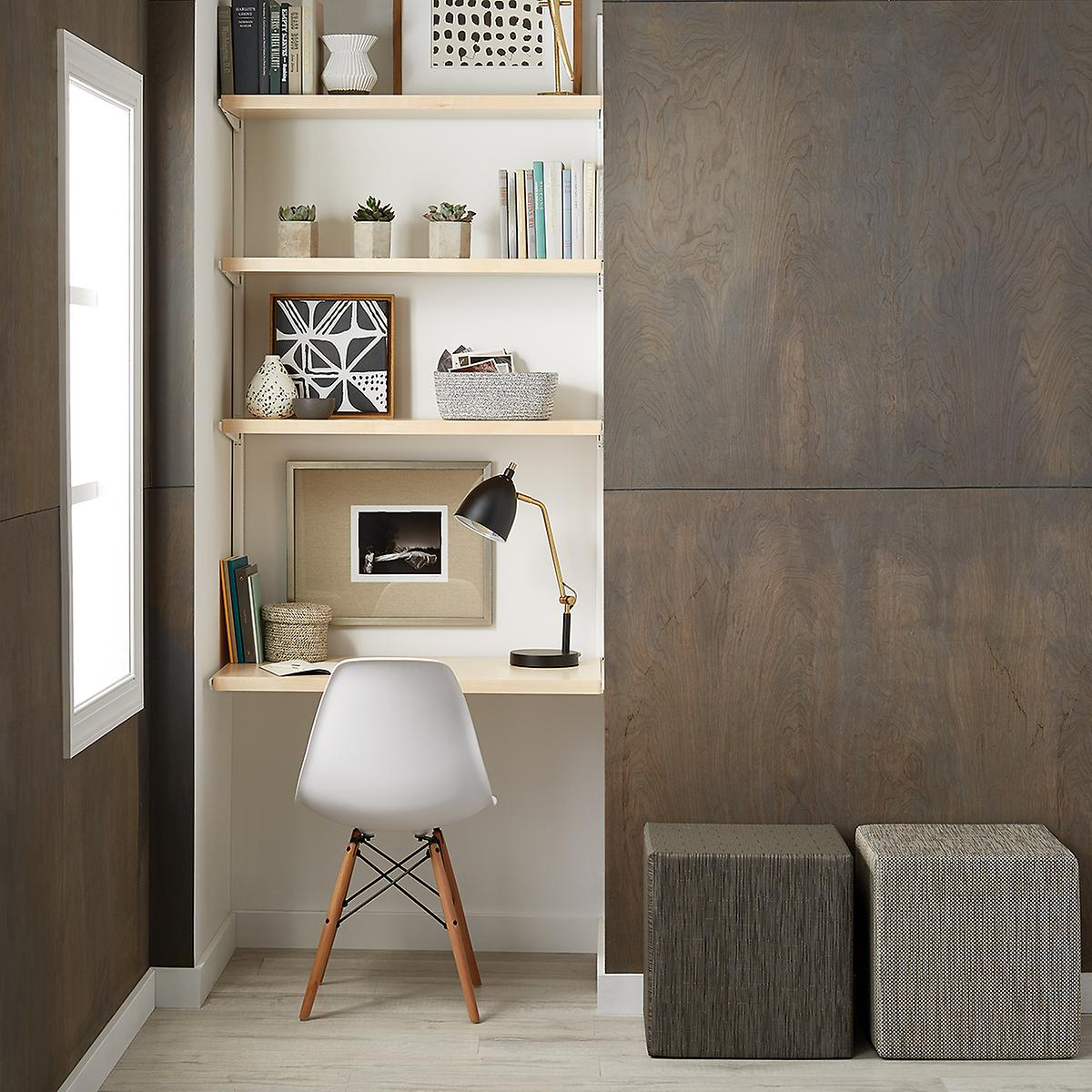 Birch & White elfa dcor Office Nook