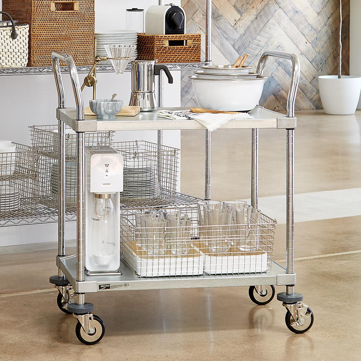 Metro Commercial Solid Shelf Serving Cart | The Container Store